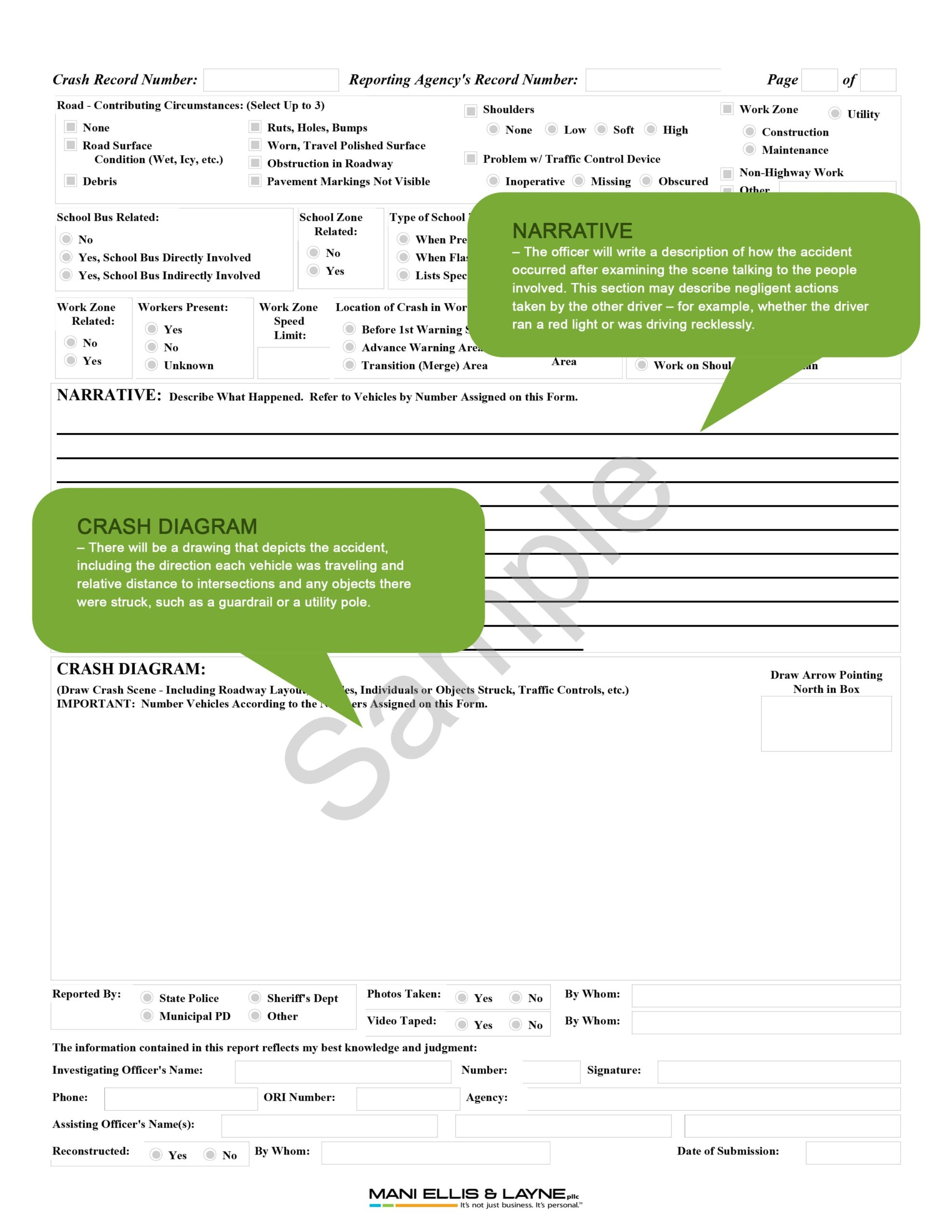 Accident Report Instructions page 2