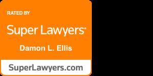 Super Lawyers Damon L. Ellis badge